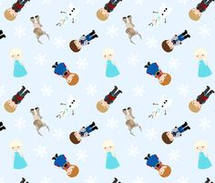 Ice Princess - Blue fabric by jac2006 on Spoonflower - custom fabric