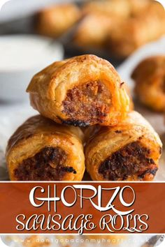 To the Sausage Roll lovers among us – gather and listen closely. These Chorizo… To the Sausage Roll lovers among us – gather and listen closely. These Chorizo Sausage Rolls are about to change your life for the better. Chorizo Recipes, Mexican Food Recipes, Sausage Roll Recipes, Healthy Sausage Rolls, Homemade Sausage Rolls, Latin Food, Pastry Recipes, Cooking Recipes, Cooking Time