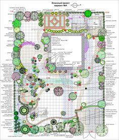Планы, генплан, разбивочный чертеж, проект, дизайн-проект, дендроплан, посадочный чертеж | Природный Парк Дизайн