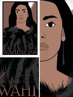 2013 Artwork Series : Wahine Toa Polynesian People, Polynesian Art, New Zealand Art, Nz Art, Maori Art, Kiwiana, Art For Kids, Character Design, Arts And Crafts