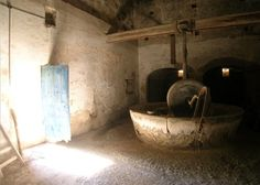 "guessing this is the ""traditional olive oil mill""  1300's, btw...  Camp de Mar, Mallorca"