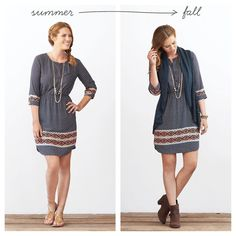 The great thing about bohemian style? Layers are luckily part of the look! Take your favorite summer dress and make it cool-weather ready with the addition of a loose, knit vest & brown suede booties. Transition your layering necklaces & boho bracelets over into fall.