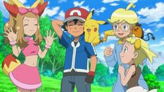 Ash and Serena Pokemon XY