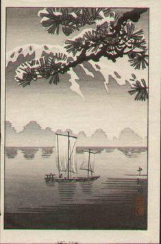 Tsuchiya Koitsu Woodblock Print - Towada