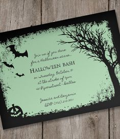 Halloween Invitation Template – Spooky Woods