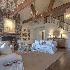 #tbt to one of or favorite homes we sold this year! It's all in the details with shiplap accents, rough hewn beams, and vaulted ceilings!