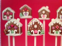 Gingerbread House cake pops
