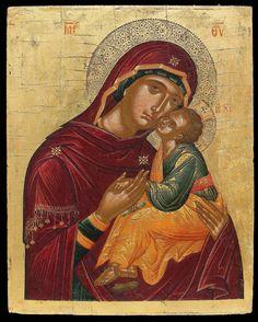 Hagia Sophia - Icons of the Theotokos Byzantine Icons, Byzantine Art, Religious Icons, Religious Art, Greek Icons, Church Icon, Textile Museum, Russian Icons, Hagia Sophia