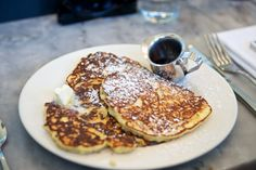 Lemon Ricotta Pancakes with Pure Maple Syrup at Plow