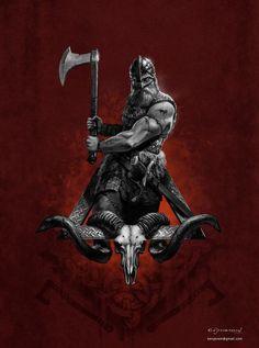 Viking Warrior by KenJeremiassen. on - nordic - Tatouage Tatto Viking, Viking Warrior Tattoos, Norse Tattoo, Viking Tattoo Design, Armor Tattoo, Viking Symbols, Viking Art, Viking Shop, Viking Logo