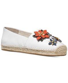 74c7f9a03770 Michael Michael Kors Heidi Embellished Espadrille Flats - White 9.5M White  Espadrilles