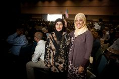 Fatima Guezzar (left) and Raba Foley came to the United States from Morocco to be with their families.