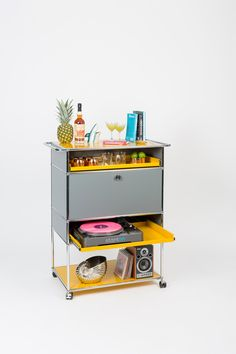 Have a drink. The bartenders bar cart, available at Haute Living