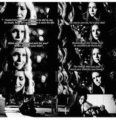 #TVD The Vampire Diaries Caroline & Elena, awww ;-;