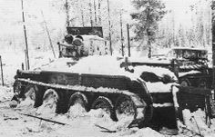 Soviet BT-5 tank captured by the Finnish Army, near Lemetti, Finland, 1940