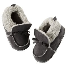 "Baby Boy Carter's Moccasin Slippers | <a href=""http://Carters.com"" rel=""nofollow"" target=""_blank"">Carters.com</a>"