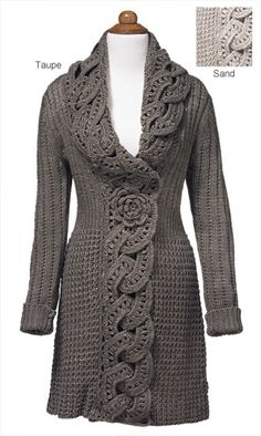 Knitwear - Crochet Flower Coat