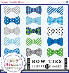 BOW TIES CLIPART 15 Bow Ties with different patterns including polka dots, argyle, stripes, tartan, plaid. Each bow tie is saved individually as a Baby Shower Cakes, Baby Shower Parties, Baby Boy Shower, Baby Boy Bow Tie, Boys Bow Ties, Baby Boy Cookies, Bow Clipart, Birthday Banner Template, Box Frame Art