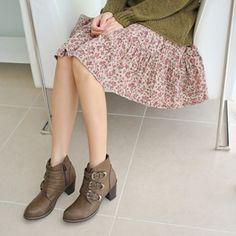 Korea womens shopping mall [styleberry] Fall Flower Banding Skirt  / Size : FREE / Price : 33.63 USD #korea #fashion #style #fashionshop #styleberry #lovely #skirt #flower