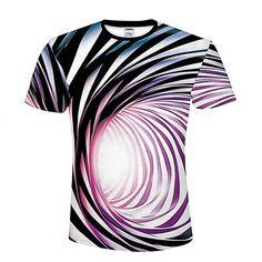 T-shirt Men Black white illusion Shirt Camiseta T Shirt Mens Funny T Shirts Clothing Casual Fitness Tee Top Abstract Tshirt Fashion Prints, New Fashion, Style Fashion, Tee Shirt Homme, 3d T Shirts, Short Shirts, Summer Tshirts, Mens Tees, Shirt Men