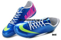 Cristiano Ronaldo Shoes 2013 Nike Mercurial Vapor 9 IC Indoor Soccer - Royal Blue Green Pink #Blue #Womens #Sneakers