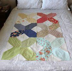 lozenge block tutorial from nightingale quilts