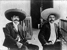 mexicanfoodporn: Eufemio y Emiliano Zapata.