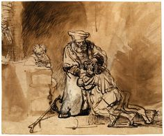 f0rtylegz: ~Rembrandt~ The Prodigal Son (1642)