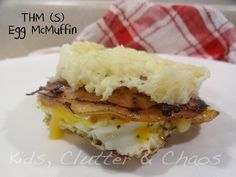Grain Free/ Low Carb English Muffin - 1 egg white,1/2 cup ShreddedMozzarella Cheese, 2 TBSP Almond Flour or Almond Meal. Mix all ingredients in a mug and microwave for 2 minutes.