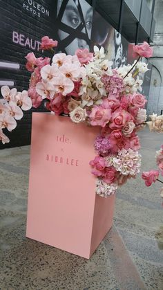 orchids and pink roses