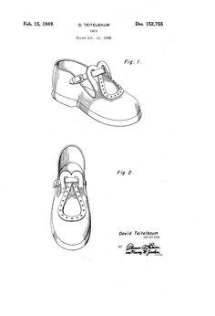 1949 DESIGN FOR A SHOE  David Teitelbaum