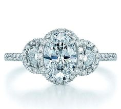 Oval Diamond. Oh beautiful, wouldn't that make a beautiful anniversary ring....oh yes I think so!