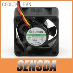 Free Shipping Wholesale SUNON KDE1204PKVX 40 4cm 40mm 12V 1.4W server inverter power supply axial cooling fans