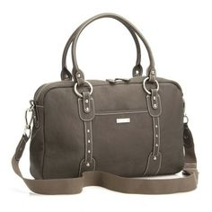 Storksak Elizabeth Diaper Bag, Walnut Genuine Leather (Discontinued by Manufacturer) The Elizabeth Walnut is an all leather bag made from a durable washed cow Designer Changing Bags, Designer Baby Bags, Best Diaper Bag, Baby Diaper Bags, Leather Changing Bag, Baby Tea, Baby Baby, Leather Diaper Bags, Baby Changing Bags