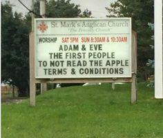"""""""adam & eve: the first people to not read the apple terms & conditions"""""""