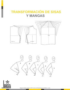 Manual de patronaje CMT - SENA Techniques Couture, Sewing Techniques, Sewing Basics, Sewing Hacks, Pattern Drafting Tutorials, Free Printable Sewing Patterns, Sewing Alterations, Sewing Doll Clothes, Modelista