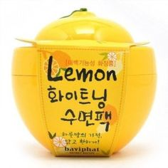 baviphat Lemon Whitening Sleeping Pack.   Not sure what this does but I love the shape.