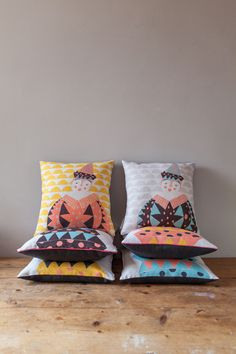 Cushion Cover - Jack the Clown in sunshine yellow £34.00