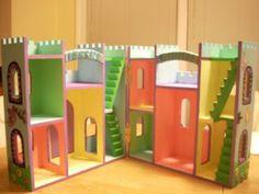 artminds wood castle dollhouse - Painted Wood Castle 2015