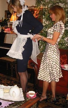 Cuckold Life Style with your Femme-male. The cuckold lifestyle has many variations, most of them probably driven by the desires of the cuckold Femme-male's wife and her lover. Having the cuckold Femme-male serve as a maid is just one of those. Maid Dress, Dress Up, Feminized Husband, Maid Uniform, Female Supremacy, Crossdressers, Blouse, Silk, How To Wear