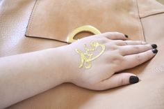 Temporary jewelry tattoo - love gold