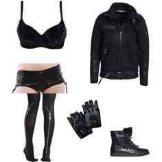 Wrestling Outfits, Wwe Outfits, Fashion Outfits, Fan Fiction, Polyvore Outfits, Rave, Outfit Ideas, Leather Jacket, Female