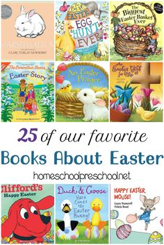 Fill your holiday book basket with one or more of these children's books about Easter! | homeschoolpreschool.net via @homeschlprek