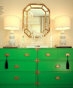 kelly green dresser - Vanessa de Vargas - Lonny Magazine Dec/Jan 2010