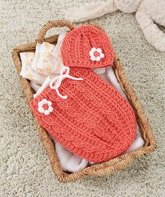 Free Crochet Pattern: Just Peachie Cocoon Set