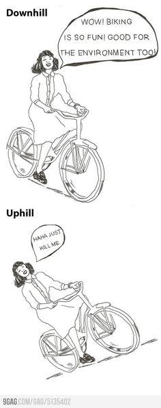 My exact view on biking