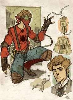 #Steampunk Spiderman Illustrated by: Denis Medri #Xerposa