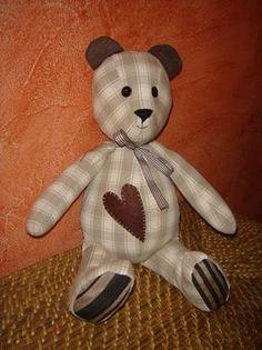 ours en tissu avec tuto