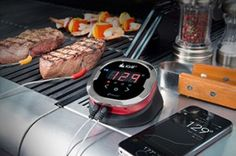 Bluetooth® Smart Grilling Thermometer at Brookstone—Buy now! Parfait, Great Gifts For Dad, Grill Accessories, Ipad Accessories, Kitchen Gadgets, Kitchen Stuff, Kitchen Tips, Grilling, Dishes