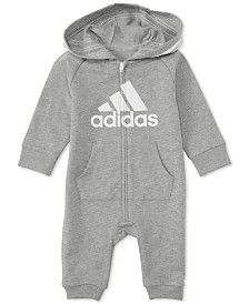 adidas Baby Boys Footless Full-Zip Coverall - All Baby - Kids - Macy's Baby Girl Pants, Baby Boy Shoes, Boys Shoes, Baby Boy Outfits, Newborn Outfits, Kids Outfits, Baby Boys, Kids Boys, Carters Baby